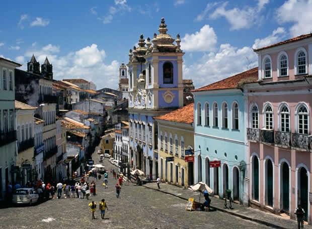 Barrio colonial de Salvador de Bahía