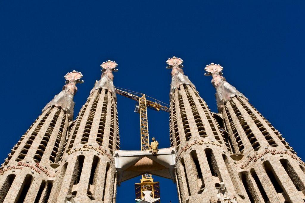 Torres de la Sagrada Familia en Barcelona