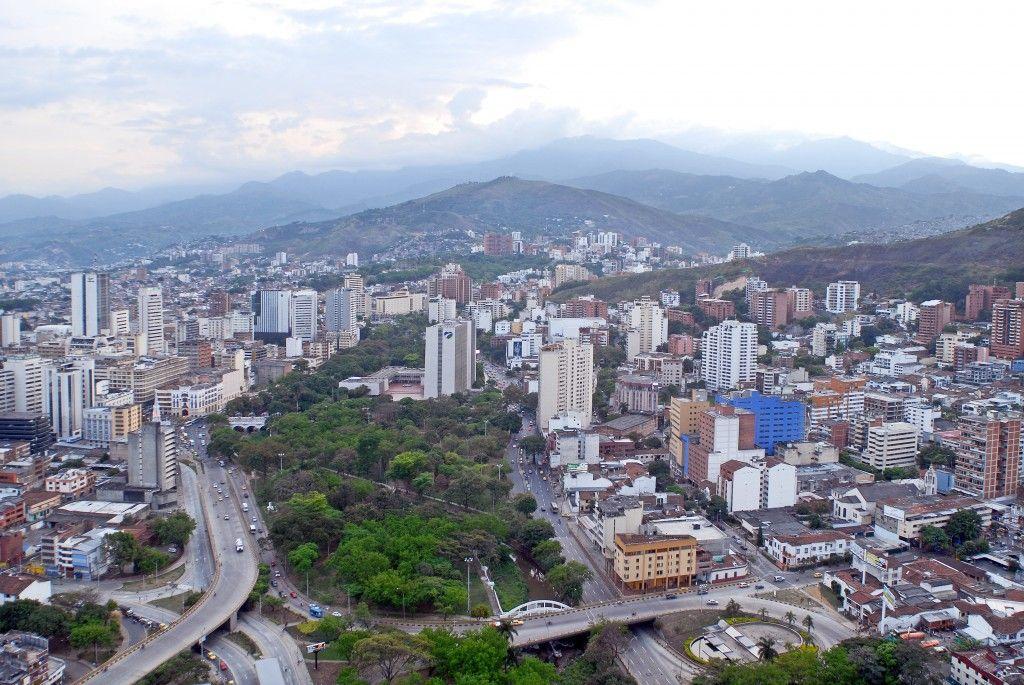 Vista aérea de Cali, Colombia