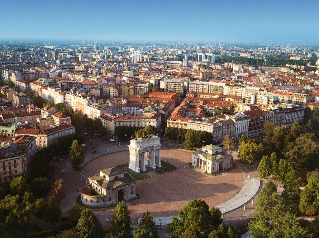 Vista aérea de Milán