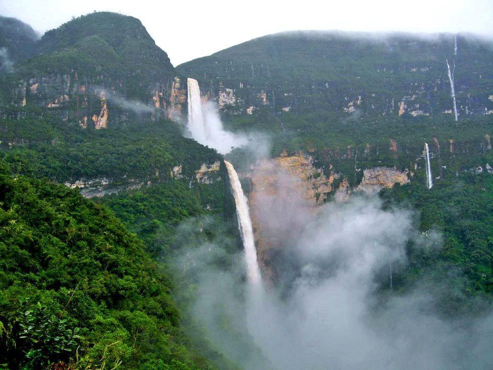 Cascadas Gocta, en la Amazonia de Perú