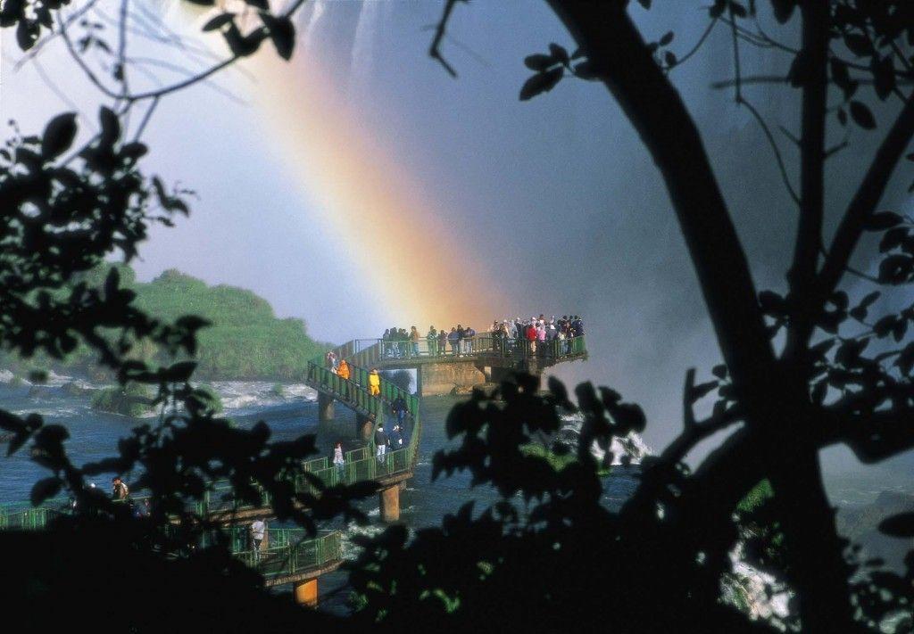 Pasarela y mirador de las Cataratas, lado brasilero