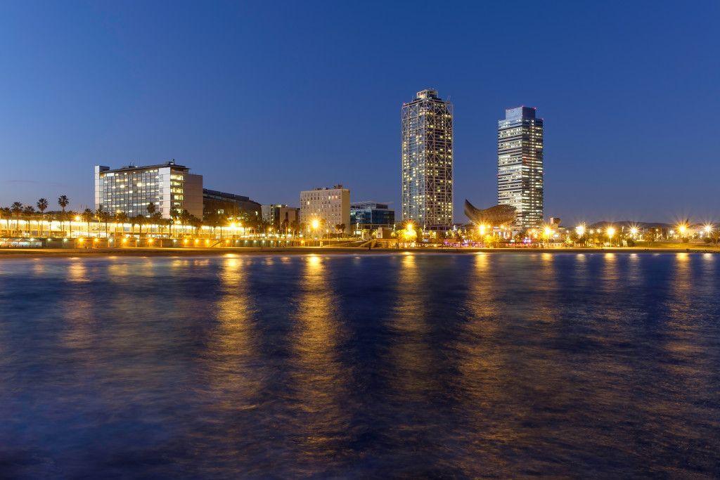 Rambla de Barcelona de noche