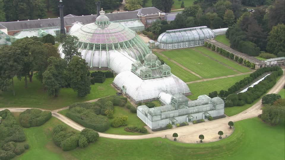 Espectacular jardín botánico en el Park Laeken en Bruselas