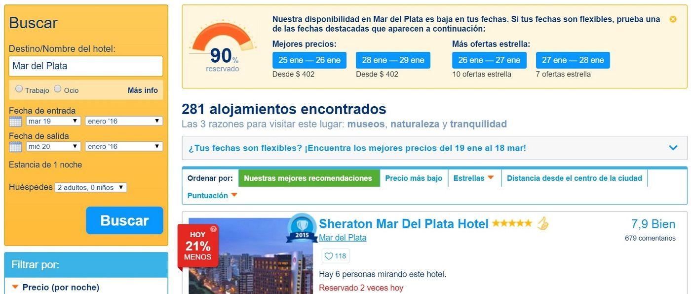 Buscador de Hoteles Booking.com