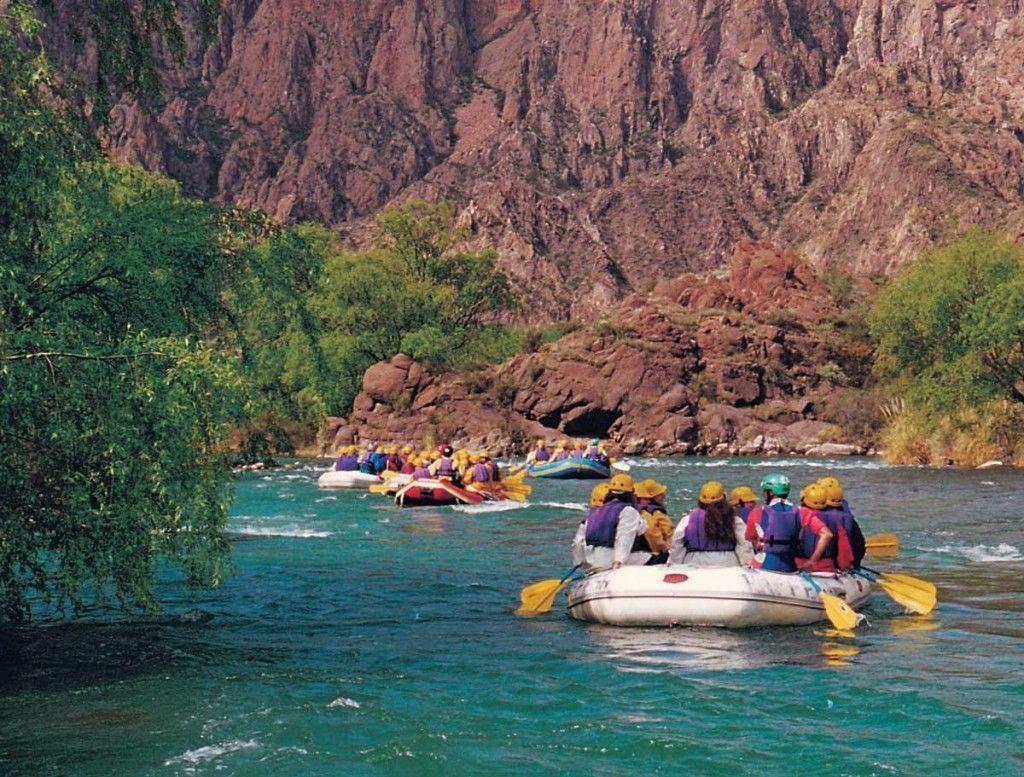 Rafting en el Cañón del Atuel, San Rafael, Mendoza