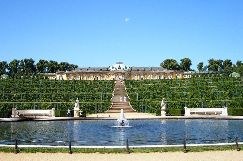 Palacio de Sanssouci y sus jardines, en Potsdam