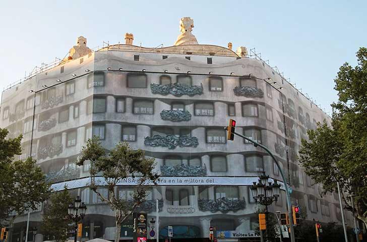 Casa Mila Barcelona Cubierta
