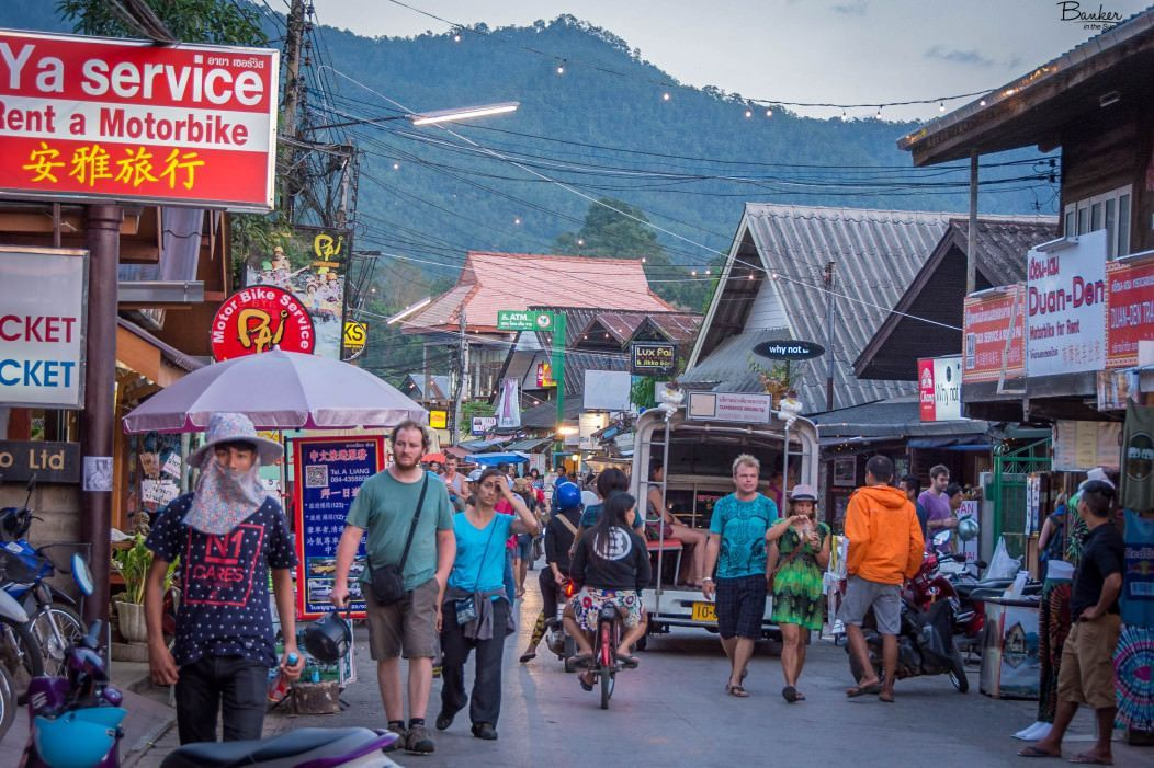 Calles de Pai, en Tailandia