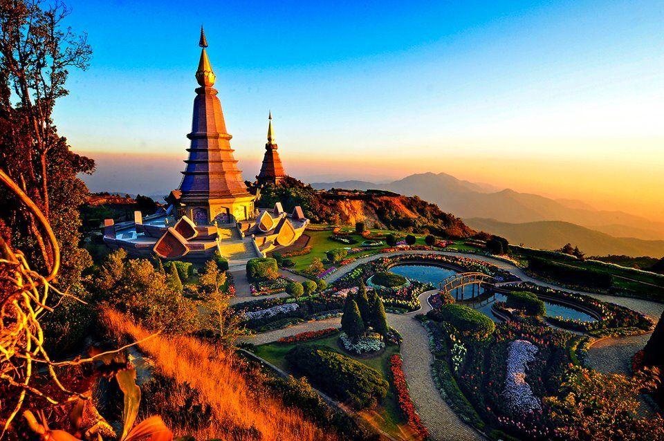 Templos en Chiang Mai, al norte de Tailandia