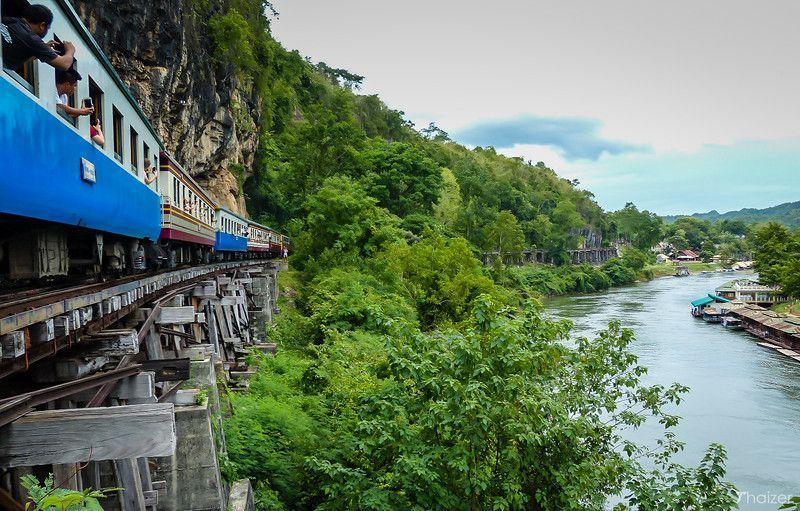 Ferrocarril de la muerte en Kanchanaburi, Tailandia