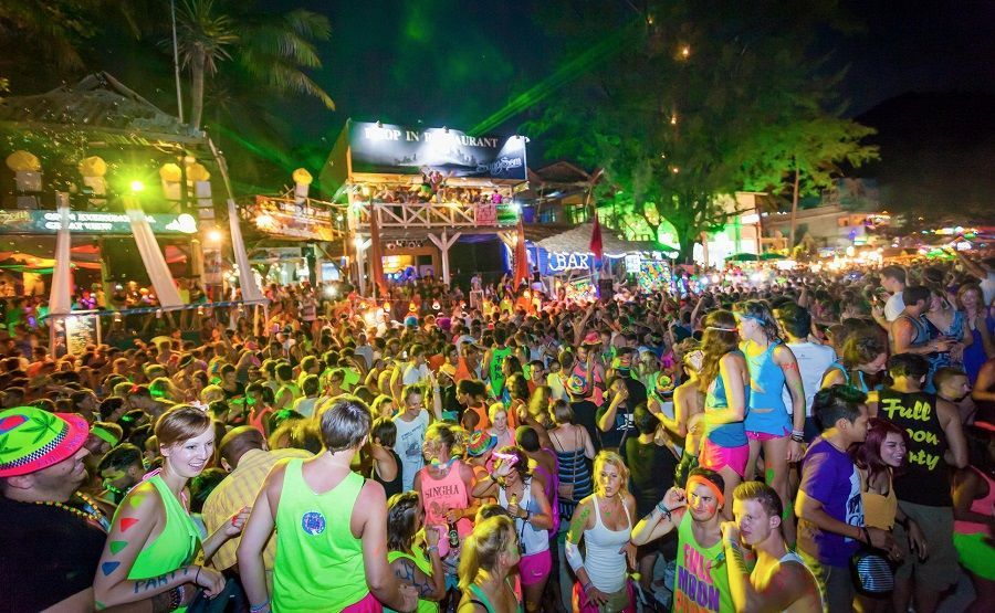Full Moon Party en las playas de Ko Phangan