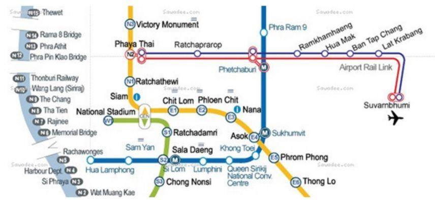 Mapa de Transporte en Bangkok: cómo ir del aeropuerto a la ciudad