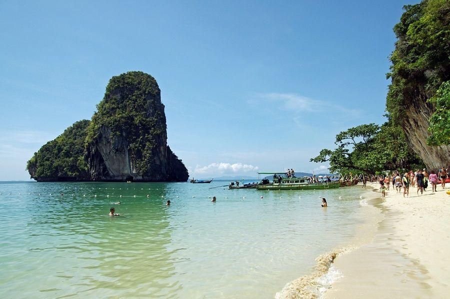 Phra Nang Beach en Krabi, Tailandia