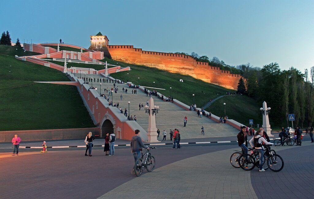 Nizhnij Novgorod escaleras de Chkalov